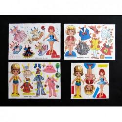 3 Raras láminas con muñecas...